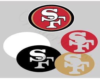 San Francisco SVG and Studio 3 Cut File Cutouts Files - Logo Stencil Silhouette Cricut File SVGS - Stencils Decals 49er 49ers Football