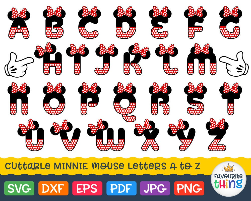 minnie mouse font minnie font svg polka dot letters with bow svg minnie 6364