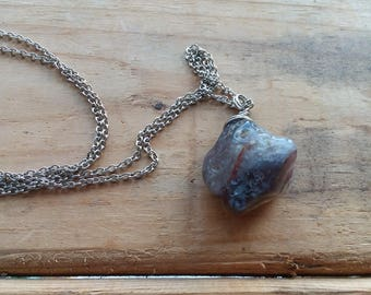 Stone Pendant Natural Stone Gemstone Pendant Gemstone Necklace