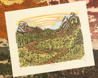PATH Woodcut Print