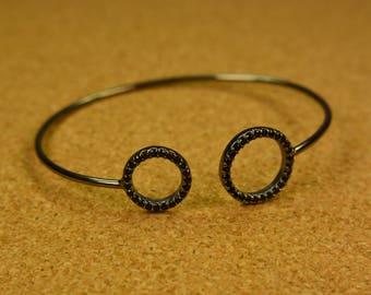 Handmade silver 925 women handcuff cycle of life