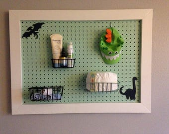Nursery Peg Board Organizer