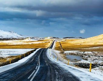 Icelandic Road in Colour