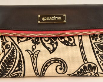 Spartina 449 Stachan Convertible Clutch Pink and Black