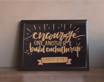 1 Thessalonians 5:11 Calligraphy