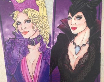 Bookmarks Maleficent s1 and s4 / Marques Pages Malefique s1 et s4