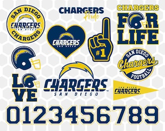 San Diego Chargers SVG, San Diego Chargers Files, Instant Download Football Files, Cricut, Cameo, Vinyl Machine, DXF EPS png jpg pdf - 033