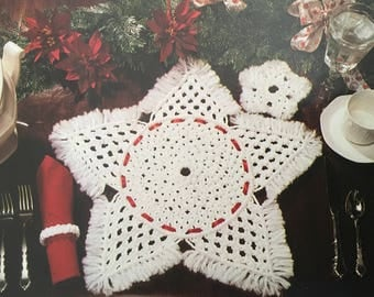 PDF Macrame A Christmas Star (Placemat, Napkin Ring & Coaster)
