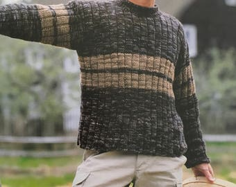 PDF Knit Man's Ribbed Pullover (EASY)