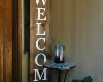 Wooden Welcome Sign, front porch sign, welcome home, farmhouse front porch, farmhouse sign