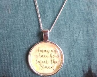 Amazing Grace, How Sweet the Sound necklace
