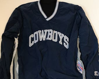 Vintage Starter Brand Cowboys Reversible Pull Over Jacket