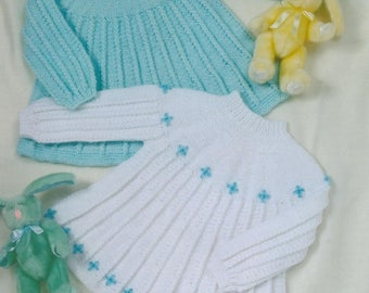 Dress to fit Newborn to 2 Years Old, Knitting Pattern, Instant download.