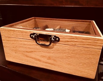 Watch Box and Valet in Red Oak