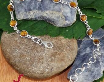 Tiger Eye Bracelet, Prayer Bracelet, Women Bracelet, Catholic Bracelet, Sterling Silver Bracelet, Adjustable Bracelet, Tiger Eye Jewellery,
