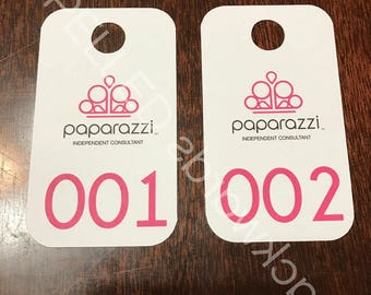 Facebook Live Sale Number Tag Cards Paparazzi Regular & Reversed - Set Of 100 - Rounded Corners