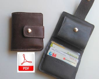 Wallet Pattern Leather - Sewing Pattern To Make this Cute Small Wallet Leather, Digital Download