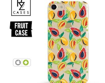 Fruit Phone Case, Mango Phone Case, iPhone 7 Case, iPhone 6 Case, iPhone 7 Plus Case, iPhone 6 plus, Samsung Phone Case, Samsung Galaxy Case