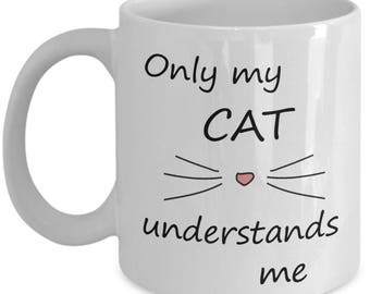 Only My Cat Understands Me Mug - Whiskers