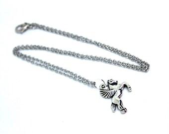 Silver Pegasus Necklace, Flying Pegasus Jewelry, Horse Necklace, Horse Jewelry, Horse Pendant, Silver Horse Necklace, Horse Gifts, Horses