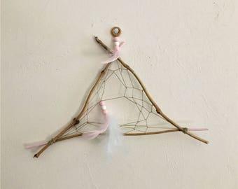 natural dreamcatcher : pink