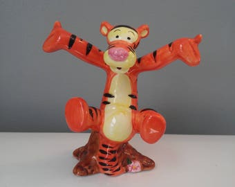 Disneys 90s Bouncing Tigger Ceramic Figurine
