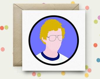 Napoleon Dynamite Square Pop Art Card & Envelope
