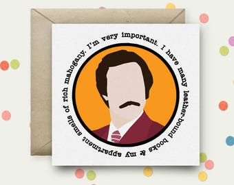 Anchorman Square Pop Art Card & Envelope