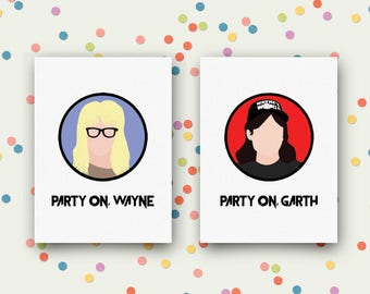Wayne's World Unframed Prints