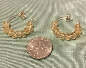 Vwalah Citrine loop earrings