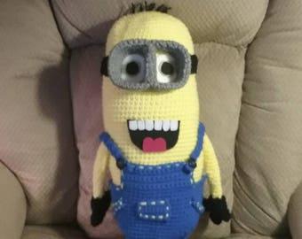 Minion crochet toy