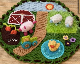 Farm Scene Play Set and Storage, easy cleanup, gift ideas