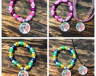 Team Umizoomi party favors.Team Umizoomi bracelet.Team Umizoomi pendant necklace.Team Umizoomi party supplies