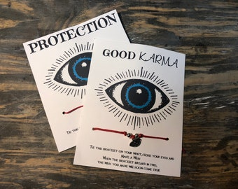 Good luck wish bracelet.Protection wish bracelet.Evil eye wish bracelet .Wish bracelet .Evil eye charn bracelet .