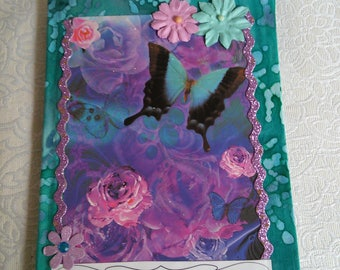 Butterfly fabric covered journal