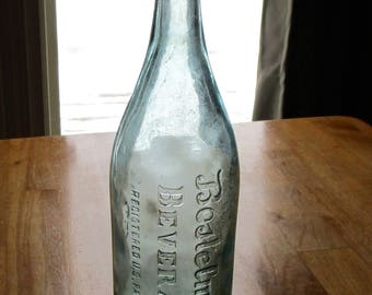 Vintage Bostelmann's BEVERAGES quart sized bottle