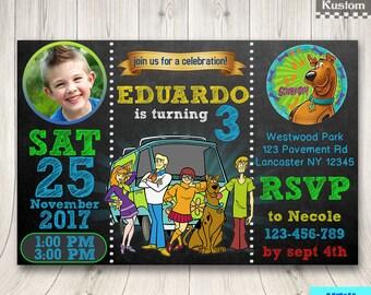 Scooby Doo Invitation Photo, Scooby Doo Invitation, Scooby Doo Birthday Invitation, Scooby Doo Birthday, Scooby Doo Invite, Scooby Doo Party