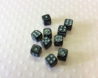 Mini 6 Sided Dice Beads