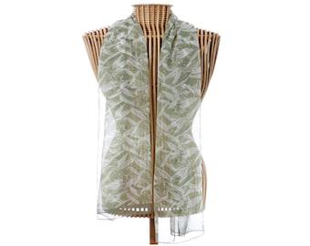 Silk Scarf,100% Silk Scarf,Floral Scarf,Rectangle Scarf,Australian Silk Scarf,Australian Scarf,Gum Leaf Scarf,Australian Wild Flowers