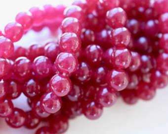 8mm violet Jade beads, full strand, natural stone beads, round, Malaysian Jade 8mm, 80162
