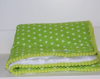 Cover for Cradle, Cotton and minky-handmade-cover-baby-gift idea