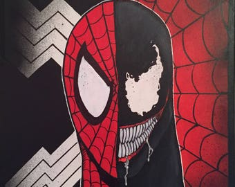 Spider-man Venom canvas