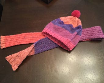 Child's hat and scarf