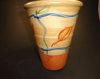 pottery vase made in Portugal