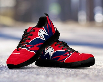 Washington Capitals Fan Custom Running Black Shoes/Sneakers/Trainers - Ladies + Mens Sizes fan, collector, gift