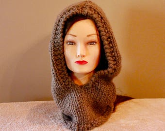 Hooded Cowl Knitted
