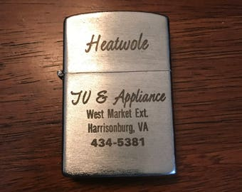 Vintage lighter from Heatwole TV and Appliance