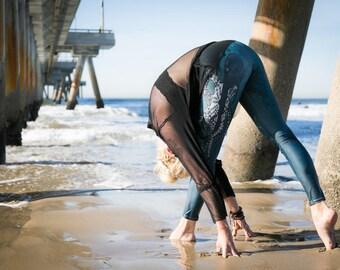 Susan Leggings. Octopus Leggings. womens yoga pants. Handrawn unique designer tights.