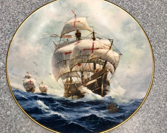 "Vintage ""Under Full Sail"" 500th Anniversary Of the Discovery 1492-1992 by Jordi Penalva"