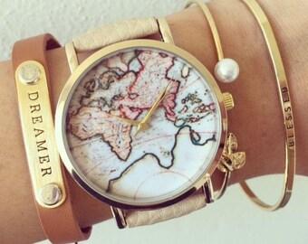 Classic Wanderlust Watch, Watches, Men's watch, Women's watch Unisex Watch, Leather Watch, Vintage Style Watch,